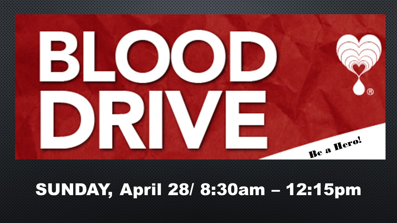 Spring Blood Drive