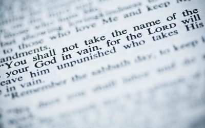 Taking God's Name in Vain: Not Just Swearing