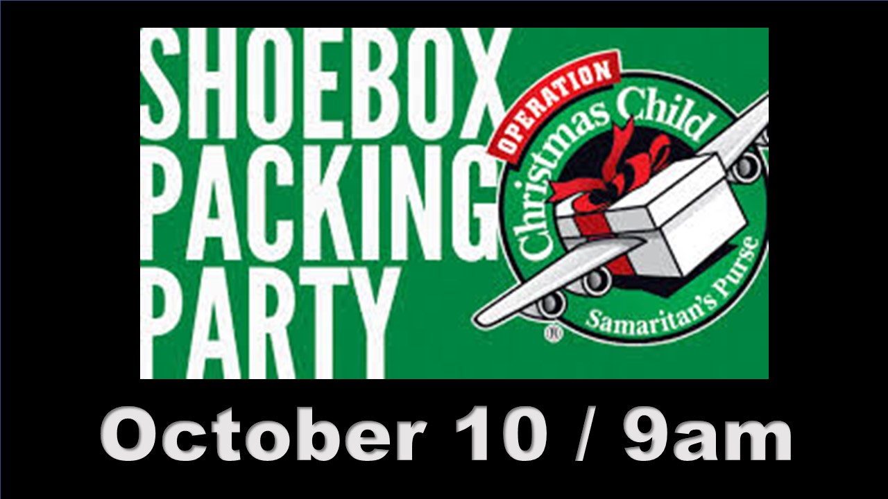 Shoebox Packing Party 2020